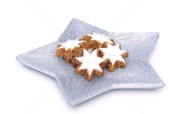 Сток-фото: корицей · печенье · продовольствие · фон · белый · Рождества