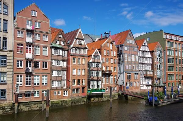 Hamburgo agua ciudad azul río arquitectura Foto stock © LianeM