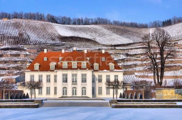 Radebeul palace Wackerbarth winter  Stock photo © LianeM