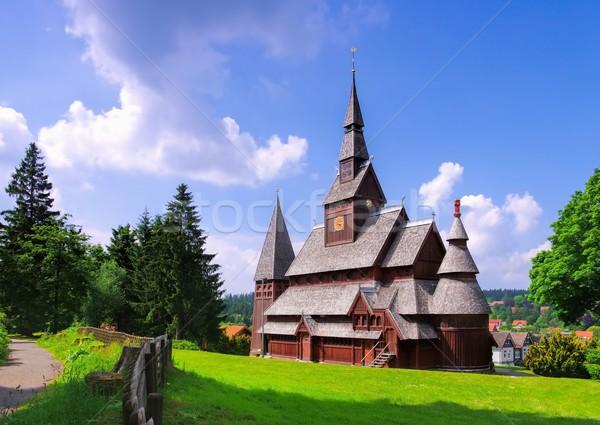 église bois montagne Europe bois Allemagne Photo stock © LianeM