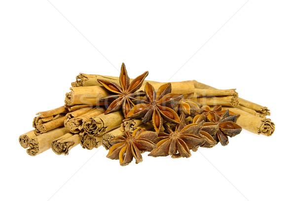 Canela em pau estrela natal macro vara decoração Foto stock © LianeM