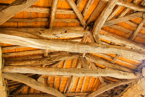 roof truss 01 Stock photo © LianeM