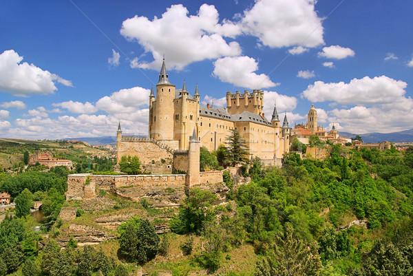 18 stad kasteel skyline steen wolk Stockfoto © LianeM