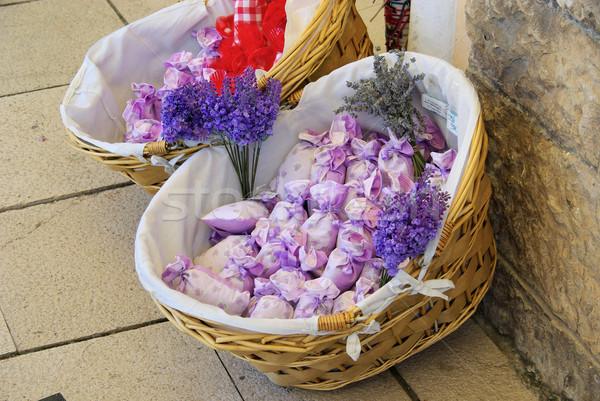 Levendula kicsi táska virág szépség nyár Stock fotó © LianeM