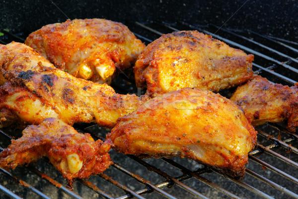 grilling chicken 08 Stock photo © LianeM