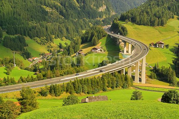13 híd utazás forgalom beton gyors Stock fotó © LianeM