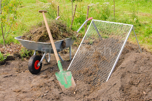 compost pile sieve 01 Stock photo © LianeM