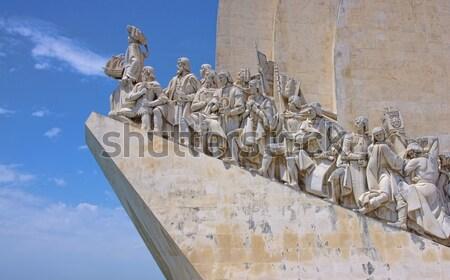 Lissabon hemel schip standbeeld sculptuur cijfer Stockfoto © LianeM