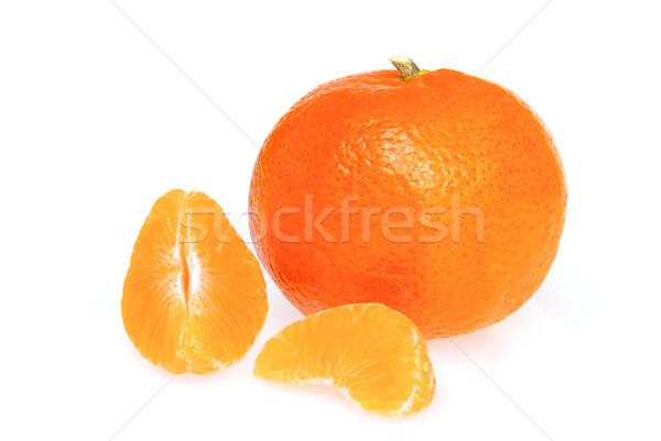 Foto stock: Mandarina · aislado · 17 · naturaleza · color · blanco