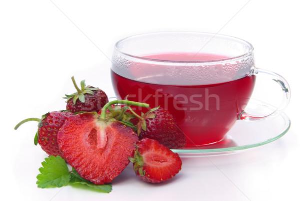 strawberry tea 02 Stock photo © LianeM