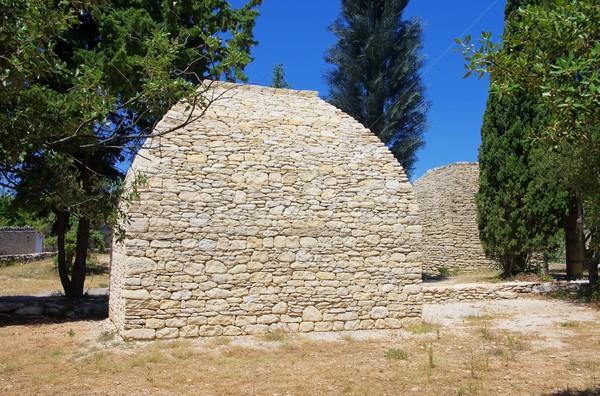 Ház tájkép kő építészet Európa kövek Stock fotó © LianeM