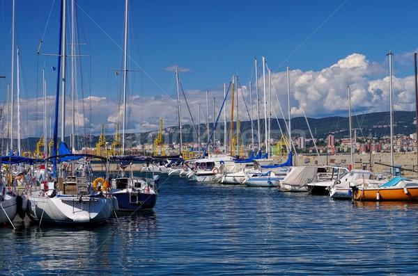 Marina Voyage bateau Europe voile côte Photo stock © LianeM
