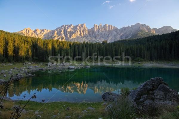 Lago di Carezza in Alps Stock photo © LianeM