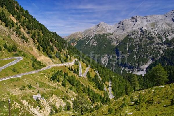 Passz dél európai Alpok hegy kő Stock fotó © LianeM