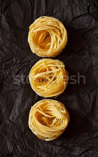 タリアテーレ 黒 紙 クローズアップ レストラン グループ ストックフォト © lidante