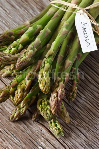 アスパラガス 新鮮な 緑 タグ 木製 食品 ストックフォト © lidante
