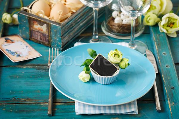Easter table setting. Stock photo © lidante