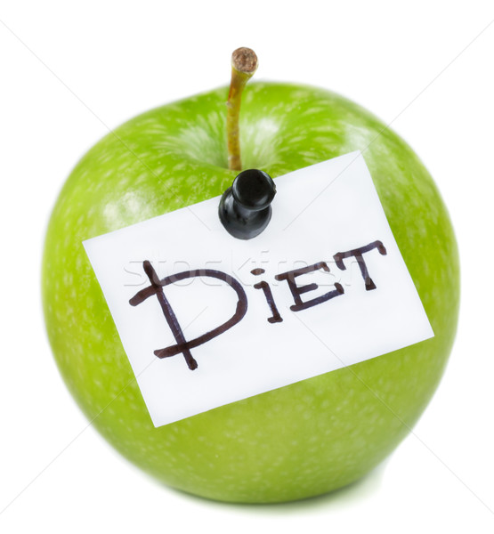 Verde maçã fresco dieta branco comida Foto stock © lidante