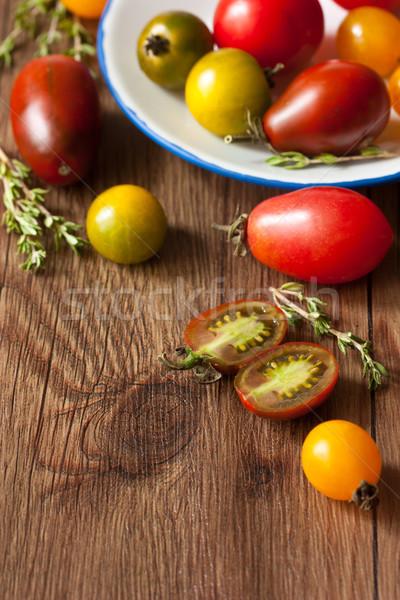 Heirloom tomatoes. Stock photo © lidante