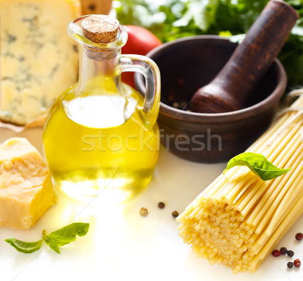 Bucatini and ingredients. Stock photo © lidante