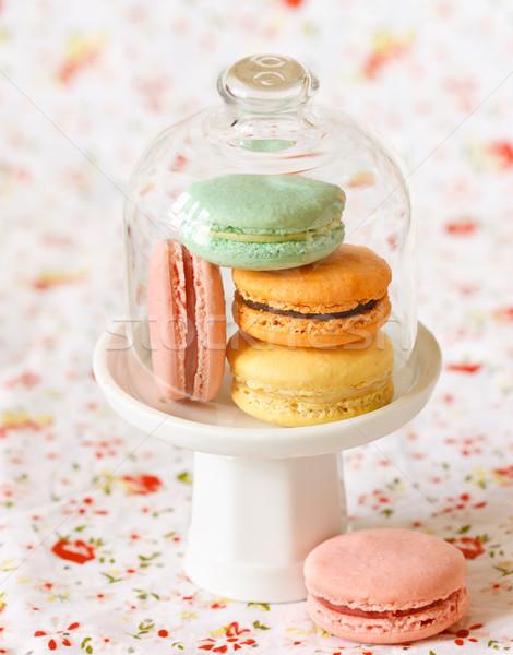 Foto stock: Macarons · dulce · vidrio · campana · jar · amor