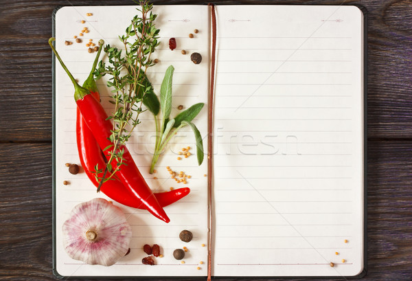 Recipe book. Stock photo © lidante