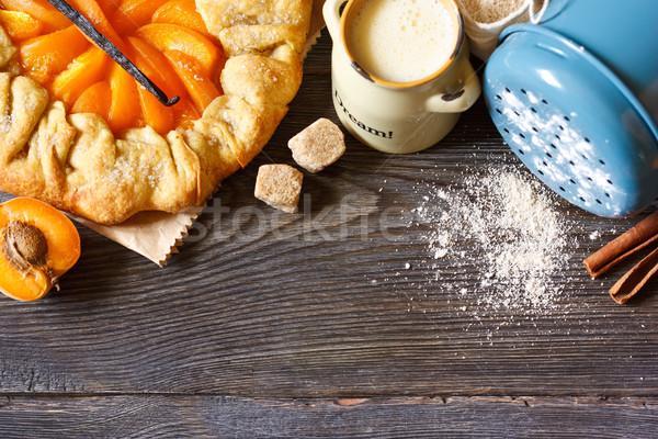 абрикос пирог домашний ваниль коричневого сахара Сток-фото © lidante