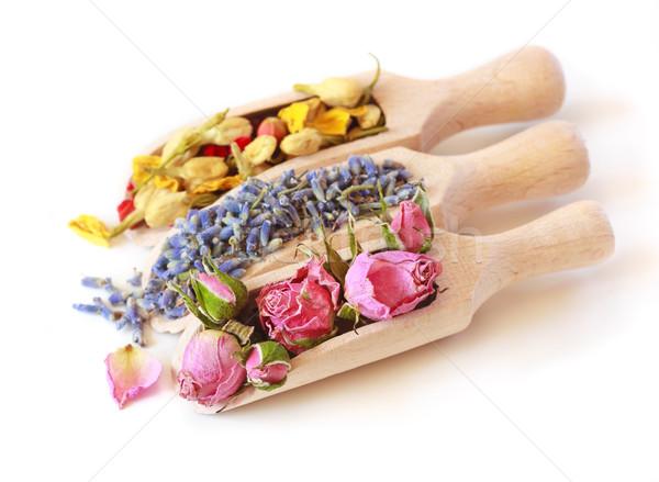 Stock photo: Flowers tea.