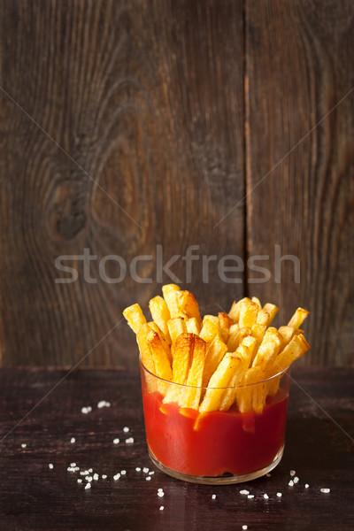 Fried potatoes. Stock photo © lidante
