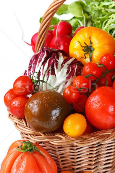 新鮮な野菜 美しい バスケット 健康 背景 ストックフォト © lidante