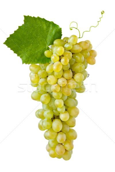 Uva maturo foglia bianco vino estate Foto d'archivio © lidante