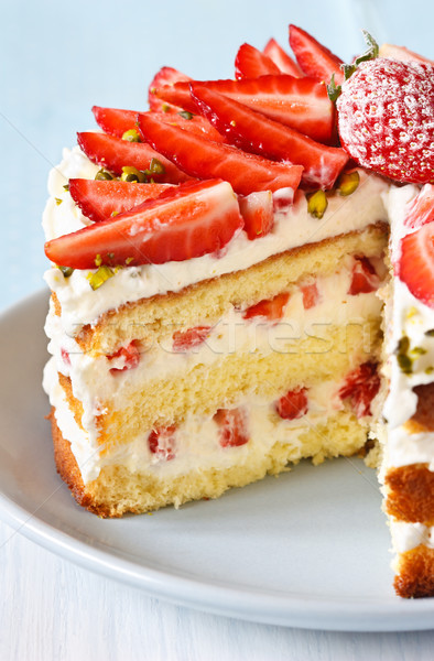 Strawberry cake. Stock photo © lidante