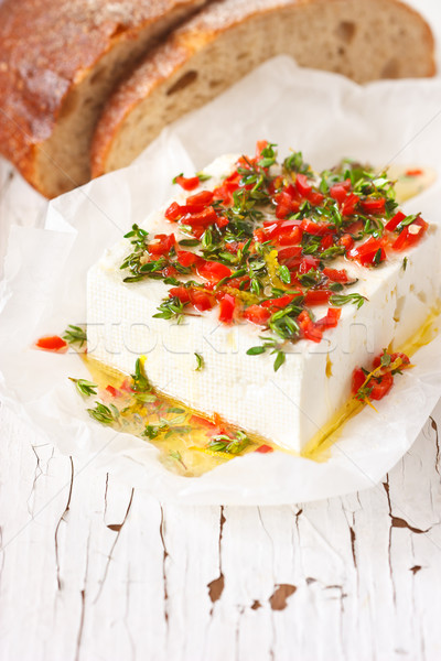 Marinato formaggio olio d'oliva chili limone sfondo Foto d'archivio © lidante