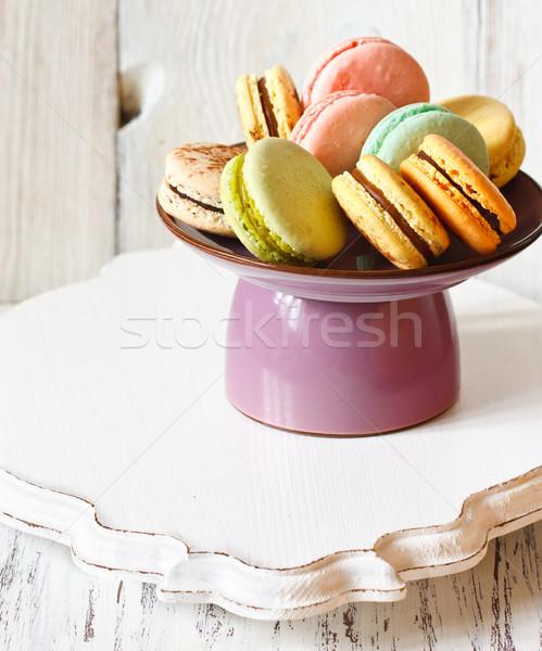 マカロン 新鮮な 甘い ケーキ スタンド 愛 ストックフォト © lidante