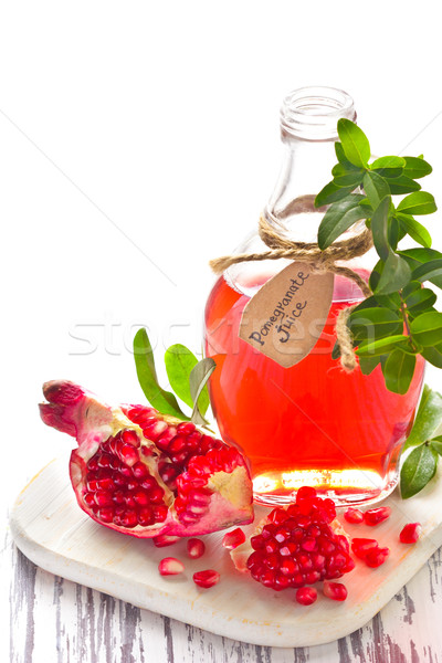 Homemade pomegranate juice. Stock photo © lidante