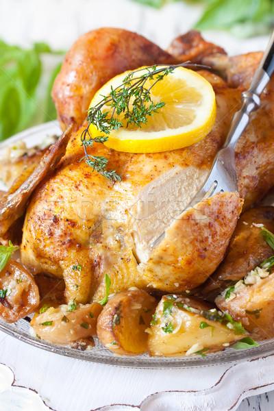 全体 鶏 レモン ストックフォト © lidante