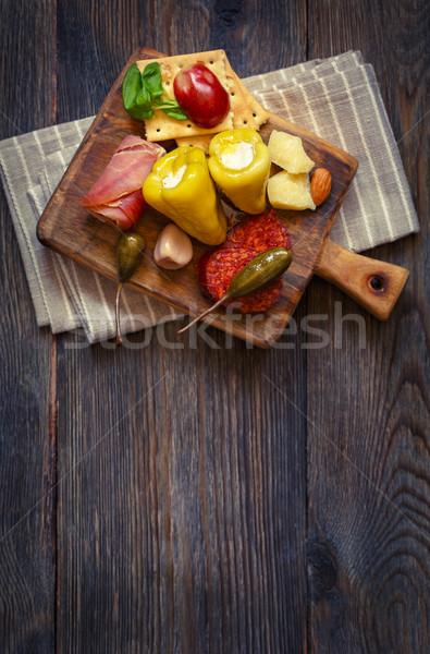 Best antipasto plate. Stock photo © lidante