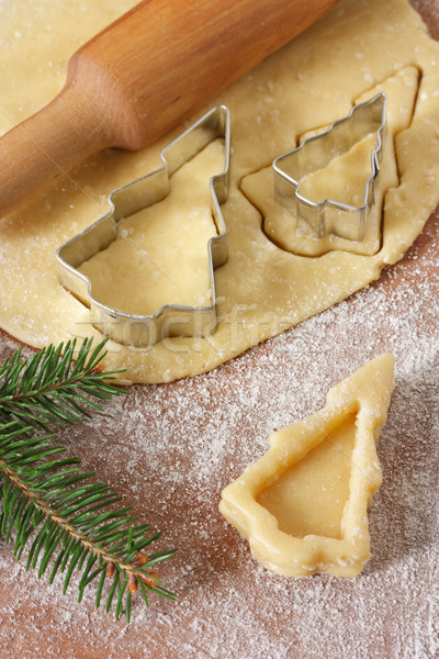 Christmas trees cookies. Stock photo © lidante