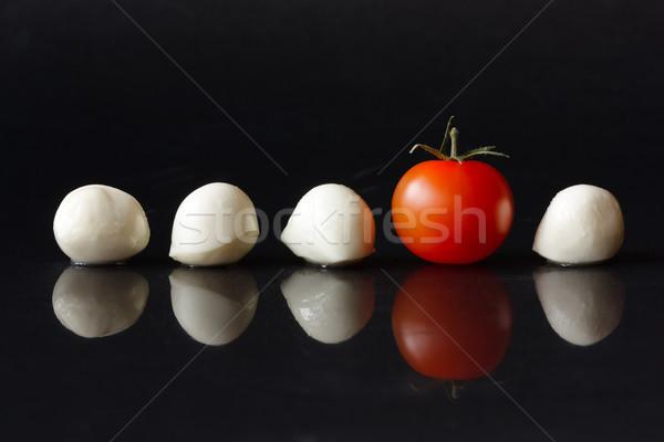 Cherry tomato and mozzarella. Stock photo © lidante