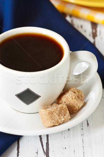 Кубок чашку кофе кофе два коричневого сахара Сток-фото © lidante