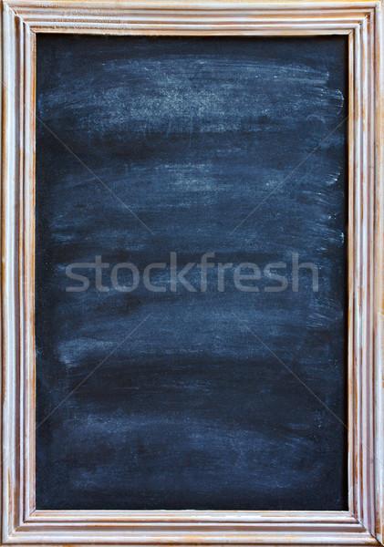 Quadro-negro velho lousa branco giz apagador Foto stock © lidante