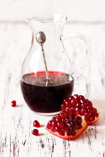 ザクロ 新鮮な ジュース ガラス ストックフォト © lidante