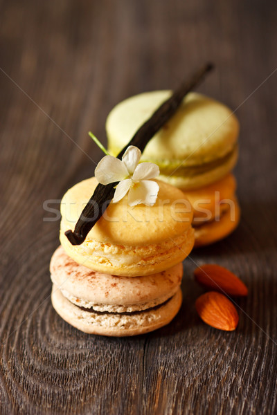Macarons французский ваниль любви фон Сток-фото © lidante