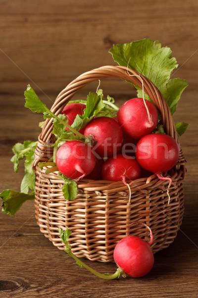 саду редис свежие плетеный корзины продовольствие Сток-фото © lidante