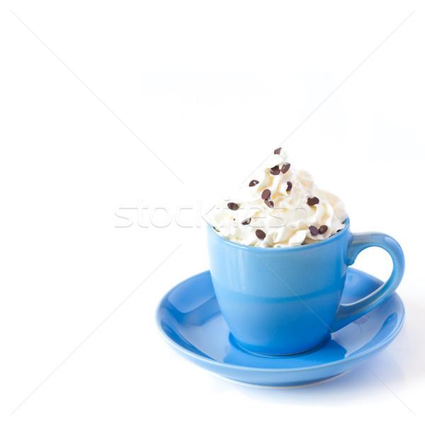 Desszert cappucchino krém csokoládé fehér kávé Stock fotó © lidante