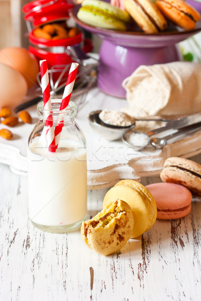 Milk and cookies. Stock photo © lidante