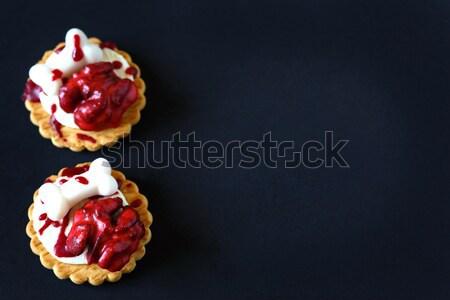 Véres agy kekszek friss halloween sötét Stock fotó © lidante