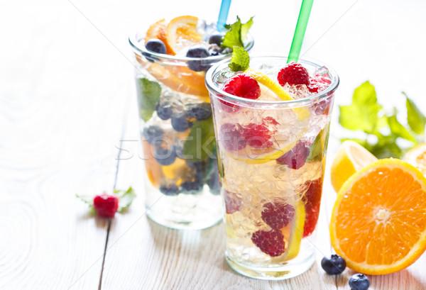 Summer fruit water. Stock photo © lidante