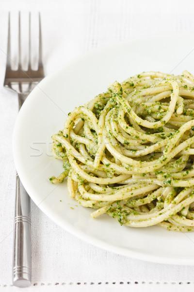 スパゲティ 新鮮な ホット ペスト プレート 食品 ストックフォト © lidante