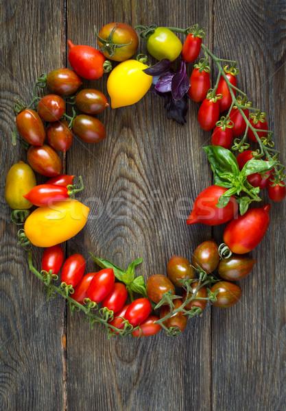 Fresh colorful tomatoes. Stock photo © lidante